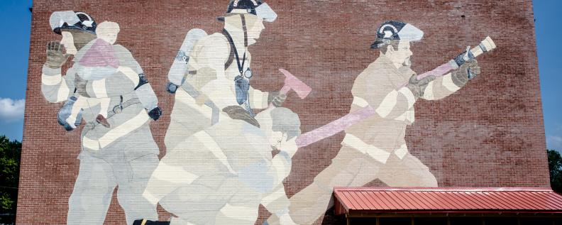 Mural located on Leu Civic Center
